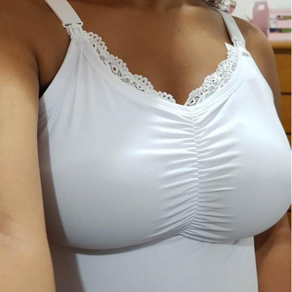 Camiseta Amamentação com Bojo Removível  - DICA043