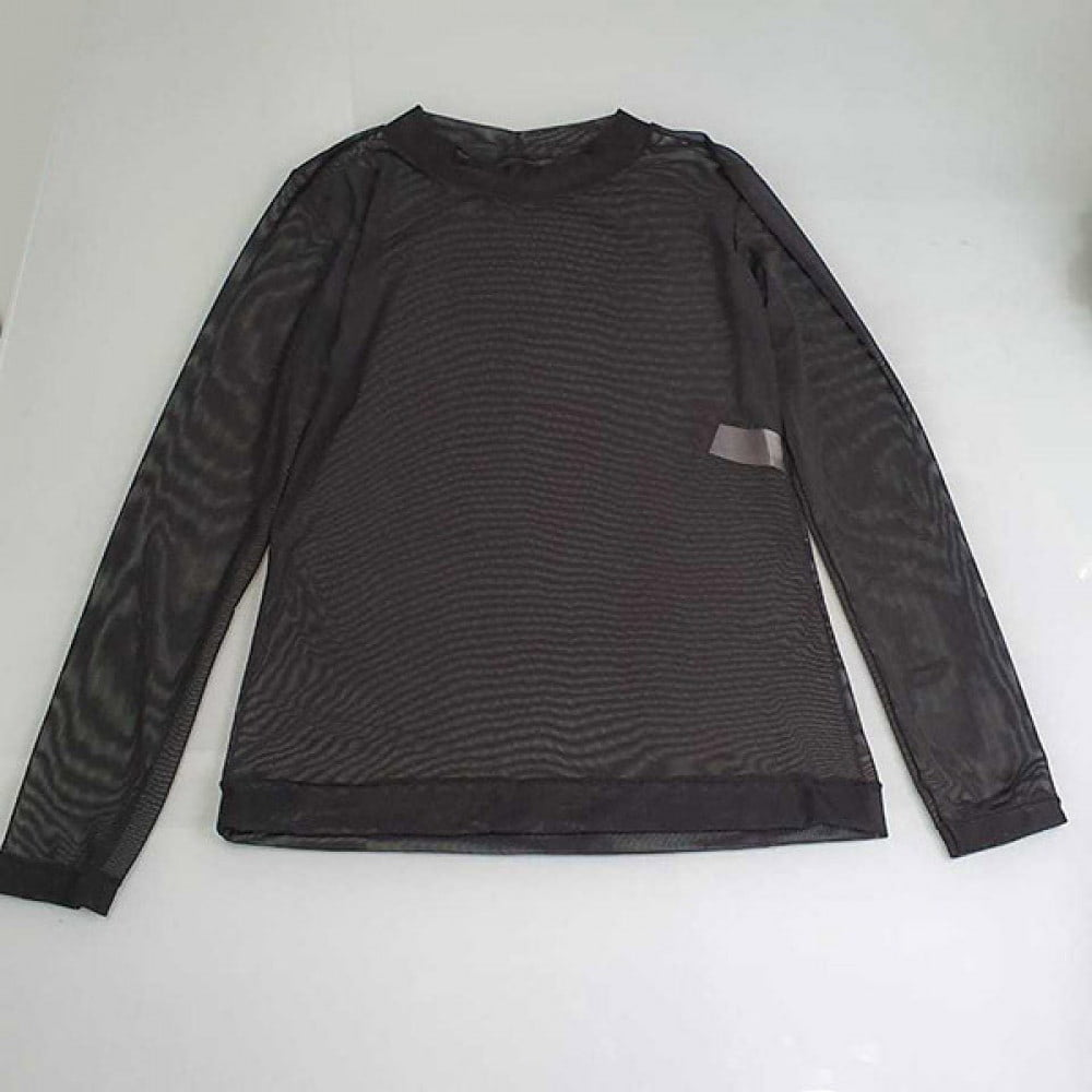 Camisa transparente de Tule Manga Longa - DICA081-2