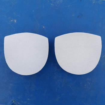 Protetor de Seios Lavável Moldado 1 Par Branco - DICA163