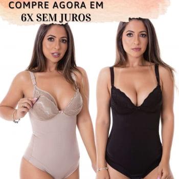 Kit com 1 Cinta Macaquinho + 1 Cinta Body Pós Parto - KIT051156