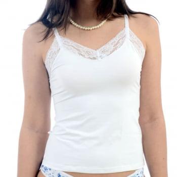 Camiseta em Microfibra com Renda - HH01