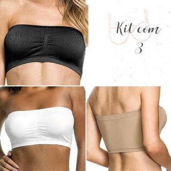 kit com 3 Top com Bojo Removível - KIT052-2